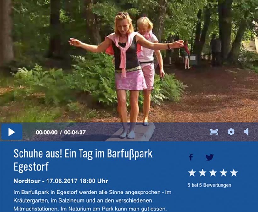 NDR-Beitrag zum Barfußpark Egestorf
